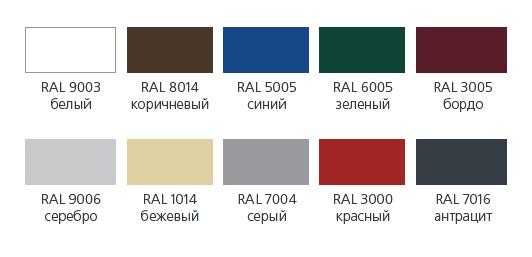 Цветные роллеты по индивидуальному заказу